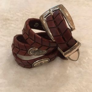 Brighton Brown Braided Celtic Knot Concho Belt